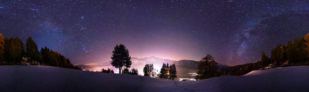 360°-Panorama - Sternenhimmel über Osttirol